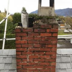 Broken Chimney in Mission BC