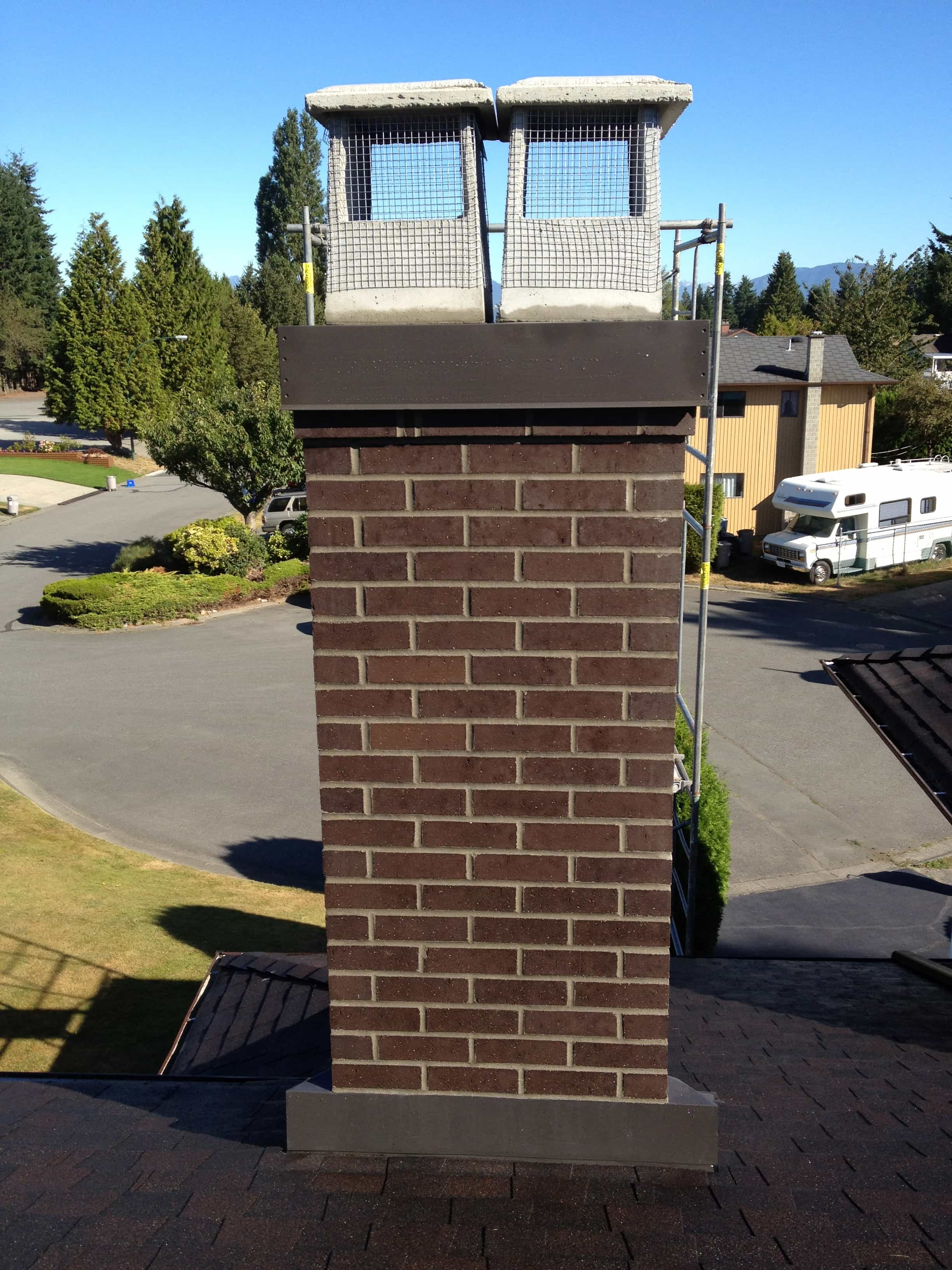 Chimney Rebuilt in Surrey BC