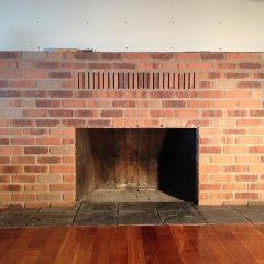 Fireplace Masonry with Slate Hearth
